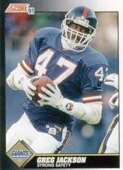 Greg Jackson - DB #47